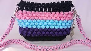 cara membuat tas rajut balon tutorial lengkap tas tali kur motif bubble warna warni tas pelangi