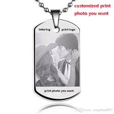 Custom Necklace Pendants Wholesale Customized Photo You Want Text Pendants Stainless Steel