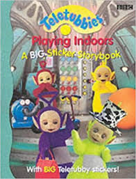 teletubbies playing indoors big sticker book 9780563475170