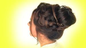 Messy Formal Hairstyles by Hairstyles Messy Crown Braid Bun Hairstyle Youtube