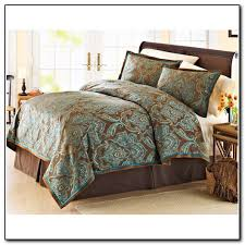Teal Bed Set Brown And Teal Bedding Sl Home Fashions Gray White U0026 Teal