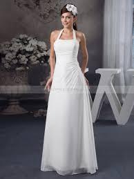halter neck wedding dresses simply designed halter neck chiffon wedding dress