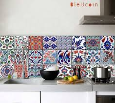 Kitchen Backsplash Tile Stickers Turkish Tile Wall Floor Decals For Kitchen Bathroom Stairs