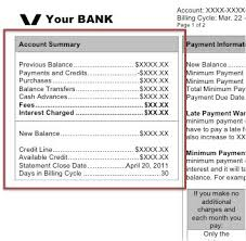Formula Credit Card Minimum Payment Monthly Credit Card Statement Walkthrough