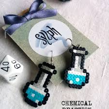 chemist earrings cool pixelated emoticon earrings from sylph oü sylph