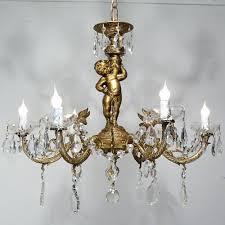 Traditional Chandeliers Vintage Cherub Angel Chandelier Ceiling Light Fixture Lamp