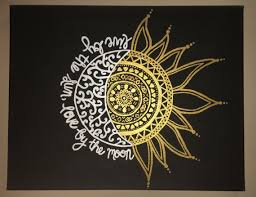live by the sun by the moon painted canvas