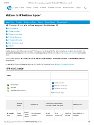 hp printers driver and software support for windows 10 hp