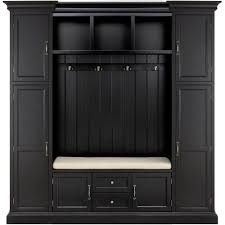 home decorators collection royce solid black hall tree 7474200200