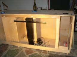 auto raising tv cabinet to make a tv lift cabinet