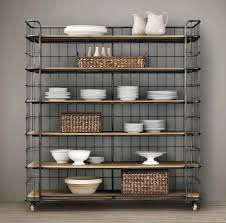 Metal And Wood Bakers Rack Bakers Rack With Baskets Like The Storage Underneath Kitchens