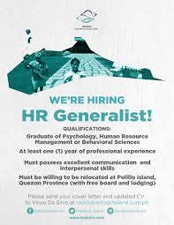 Human Resources Generalist Cover Letter Human Resources Generalist Job Hiring Quezon Pinoyjobs Ph