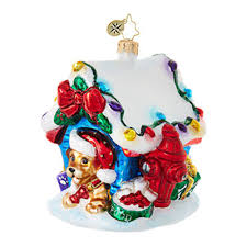 christopher radko ornaments radko animal in the house 1018835