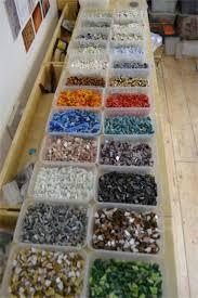 glittering shards make mosaic eggs and crosses