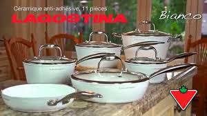 batterie de cuisine ceramique batterie lagostina bianco forgée céramique blanc