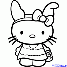 kitty easter coloring pages download print free