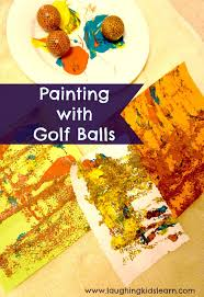 decorating golf balls laughing kids learn