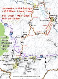 Great Loop Map Map Of The Three Sisters Motorcycle Route In The Beautiful Hill
