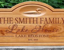 Personalized Signs For Home Decorating Lake Decor Etsy