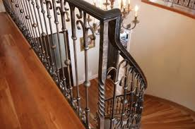 Fer Forge Stairs Design Wrought Iron Railing With Bars Indoor For Stairs Vertical