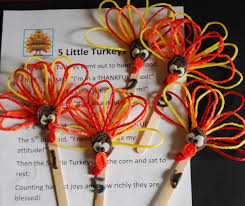 thanksgiving food crafts for kids 5 little turkeys u2013 a gratitude poem for young kids project