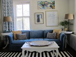 interior white ikea curtains in blue floral motifs mixedwith blue