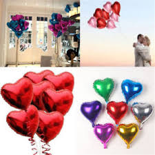birthday helium balloons 10pcs 10 heart foil helium balloons wedding party birthday