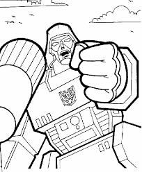 transformers coloring pictures megatron evil