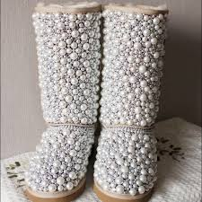 ugg s boots 26 ugg boots customized pearl uggs from s closet on