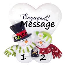 buy engagement snow ornament personalized