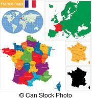 province france france province map vector illustration of a 3d province eps