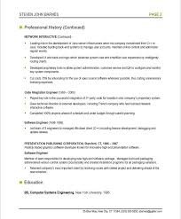 System Engineer Resume Sample by Resume Sample Software Engineer Professional Page 1 Software