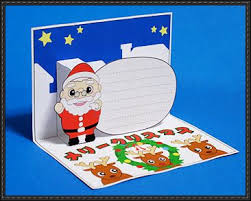 papercraft santa claus pop up greeting card free template download