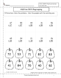 Multiplication By Two Digits Worksheets Addition With Regrouping Worksheets Worksheets Knowledge And
