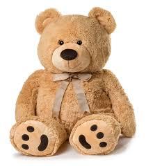 amazon com huge teddy bear tan toys u0026 games