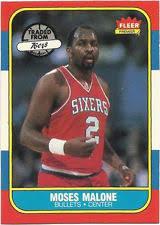 moses malone portland trailblazers basketball trading cards ebay