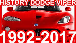 Dodge Viper Generations - history dodge viper 1992 2017 youtube