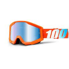 motocross goggles ebay 100 mx goggles strata orange w mirror blue lens gearfactormx