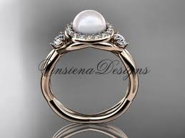 pearl and diamond engagement rings 14kt gold diamond pearl engagement ring vp8127