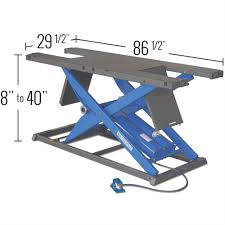 k u0026l pneumatic motorcycle lift table discount ramps