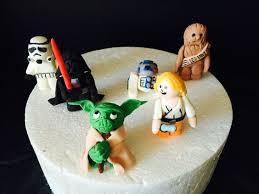 star wars fondant figures luke skywalker chewbaca r2d2 darth