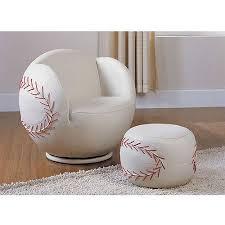 baseball chair and ottoman set acme all star baseball 2 piece chair and ottoman set walmart com