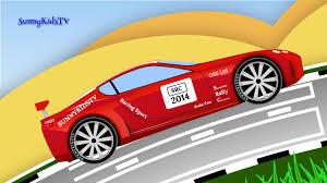 cars for kids race cars sports car race cartoon for children