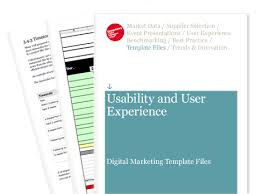 ux report template usability and user experience digital marketing template files