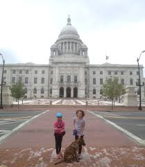 Rhode Island State House Reays On The Road Rhode Island