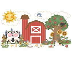 barnyard farm animals wall mural decals baby boy girl nursery 137 barnyard farm animals wall mural decals baby boy girl nursery