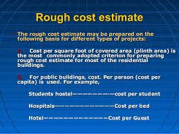 estimating building costs estimation power point