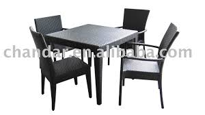 dining room dark black with square table rattan dining chairs for