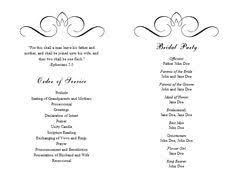 free wedding program templates program template wedding
