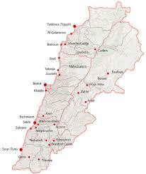 lebanon on the map lebanon places